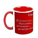 HomeSoGood Friends Are Forever White Ceramic Coffee Mug - 325 Ml