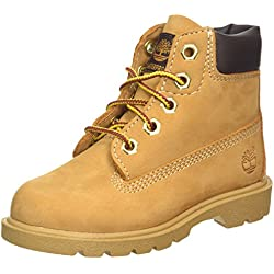 Timberland Youths Icon 6-inch Premium Wheat Leather Boots 39 EU