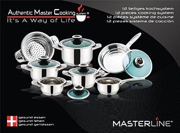 Masterline Batterie De Cuisine De Luxe En Inox De Haute Qualite 12