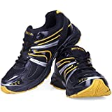 Nivia Men's Arnold Mesh PU Black And Yellow Running Shoes