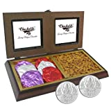 Chocholik Premium Gifts - Rocking Gift With Almonds & Belgium Chocolate Rocks With 5gm X 2 Pure Silver Coins -...