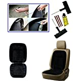 Combo - Auto Pearl - 6 Pieces Car BikeTyre Puncture Kit, Bead Seat Cushion With Black Velvet Border