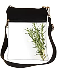 Snoogg Background Made From Healing Herbs Cross Body Tote Bag / Shoulder Sling Carry Bag
