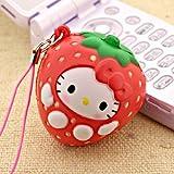 Sanrio Hello Kitty As Fresh Fruit Ball Cell Phone Strap (Strawberry)