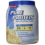 Pure Protein Natural Whey Protein Powder, French Vanilla, 1.6 Pound (Packaging May Vary)