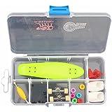 Remeehi Finger Skateboard With Storage Box Mini Finger Skateboard Set Educational Toys Sets Great Gift For Kids...