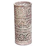 Artist Haat Hand Carved Natural Soapstone Flower Vase Design 15
