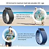 JINBEST Smart Bracelet Fitness Trackers Wireless Activity Bluetooth Wristband With Heart Rate Monitors Pedometer...