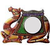 Ghanshyam Art Wood Camel Wall Mirror (45.72 Cm X 4 Cm X 30.48 Cm, GAC067)