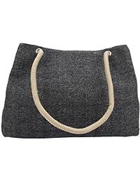 Tuelip Women's Fashion Drawstring Canvas Bag(Black)-GP-02