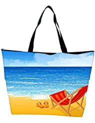 Snoogg Tropical Beach Vector Background Waterproof Bag Made Of High Strength Nylon