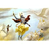 Tallenge - Lord Krishna Leaves The Planet - A3 Size Rolled Poster