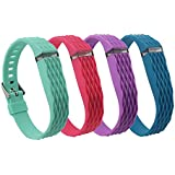 Cute Replacement Wristband Bracelet Strap/ Wireless Activity And Sleep Tracker Accessory Textured Bands Pack With...