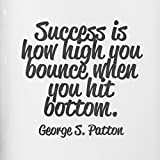 Design Aluminium Trinkflasche - success is how high you bounce when you ... - Kaffebecher, Teeflasche, Saftflasche, Reiseflasche - 3
