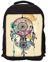 Snoogg Dream Catcher Colourful Backpack Rucksack School Travel Unisex Casual Canvas Bag Bookbag Satchel