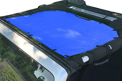 Alien Sunshade Jeep Wrangler Mesh Bikini Top Cover Provides UV Protection for Your 2-Door or 4-Door JK or JKU (2007-2017) (Cobalt Blue)