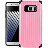 Dr Chen Samsung Galaxy Note 7 Case Metal Armor Cover Hybrid Tpu + PC Dual Layer Back Cover For Samsung Galaxy Note 7 (Pink)
