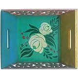 Kalanjali Wooden Decorative Tray (16 Cm X 5 Cm X 16 Cm)