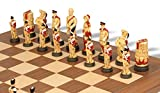 Battle of Waterloo Hand Decorated Theme Chess Set Deluxe Package