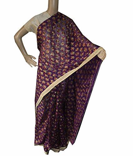 Beautiful RUDA Designer Phulkari Embroidered Saree-JS1105