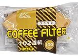カリタ コーヒーフィルター 102濾紙 100枚入 ブラウン