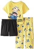Despicable Me Little Boys' Minions Know Karate 3 Piece Pajama Set, Multi, 2T