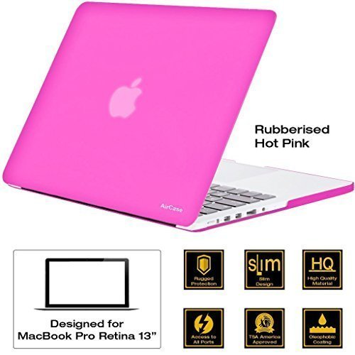 "AirCase - Rubberized Hard Case/ Hard Shell Cover For 13.3"" Apple MacBook Pro 13 With Retina Display (Models: A1425..."