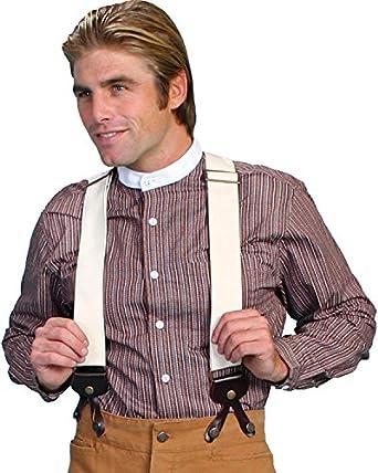 Men's Vintage Style Suspenders Canvas Suspenders $42.78 AT vintagedancer.com