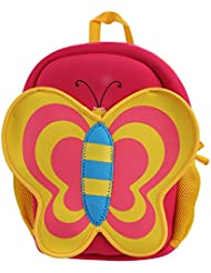 Butterfly Kids Backpack, NEWSTYLE Preschool Ages & Toddler School Camping Travel Kids All-in-One Back Packs, Water...