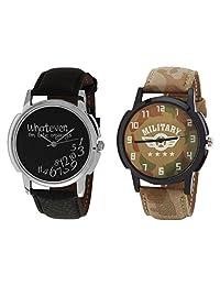 Relish Black Analog Round Casual Wear Watches For Men - B019T7LBJI