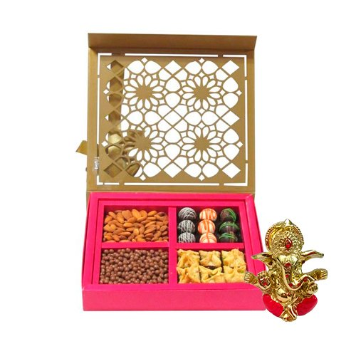 Chocholik Belgium Chocolates - Lovely Collection Of Almonds, Truffles, Butterscotch And Baklava Gift Box With...