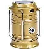 Home Pro LED Solar Light Lantern Golden