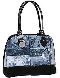 Jewel Fuel Women's Shoulder Bag (Blue- Black) (BAG9082)