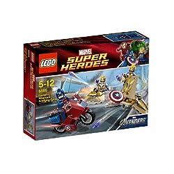レゴ スーパー・ヒーローズ キャプテン・アメリカ(TM) アベンジングサイクル 6865