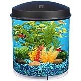 KollerCraft AQUARIUS AquaView 360 Aquarium Kit With LED Light - 2-Gallon