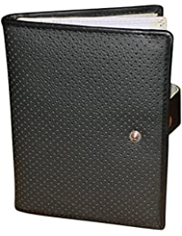 Style 98 Leather Travel Passport Wallet With 10 Card Slots & 2 Passports For Men & Women