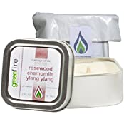 Greenfire Rosewood Chamomile Ylang Ylang All Natural Massage Oil Candle (Size: 2 Fluid Ounce)
