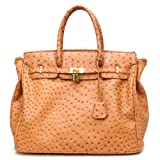 Designer Inspired London Office Tote Ostrich Finish - Colors Available