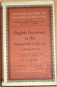 English Literature In the Sixteenth Century