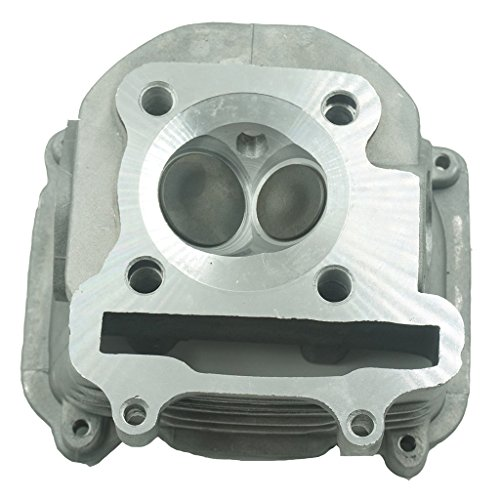 Glixal ATMT1-024 GY6 125cc 150cc to 170cc 61mm Performance Cylinder Head Assy with valves for 152QMI 157QMJ Chinese Scooter Moped ATV Go Kart (None EGR Type)