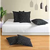 Swayam Drape And Dream Printed Cotton 5 Piece Cushion Cover Set - Black And White (CC165-2302 )