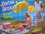 Barbie & Skipper Beach Party Playset w 26 Pieces (1988 Arco Toys, Mattel)