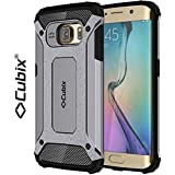 Cubix® Shock Proof Case For Samsung Galaxy S6 EDGE Tough Armor Tech Series Back Cover Case With Premium Carbon...
