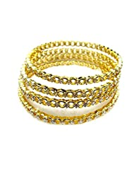 Poddar Jewels Cubic Zirconia 4 Pcs Bangle Set (Size 2.8)