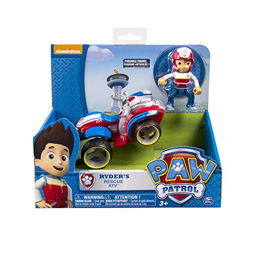 Paw Patrol - Ryder's Rescue ATV and Figure (works with Paw Patroller)