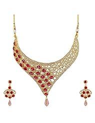 Bling N Beads Designer Bridal Wedding Wear Necklace Set With Mang Tika