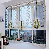 100x80cm Flower Sheer Curtain Tulle Window Door Liftting Curtain Blind