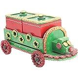 Mugdh Art Wooden Dry Fruit Box With Tray (28 Cm X 11 Cm X 10 Cm)
