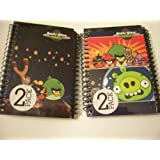 Angry Birds Space 2 Pack Spiral Notebooks By Mead (Prepare For Flight, Space Birds Vs. Green Pig)