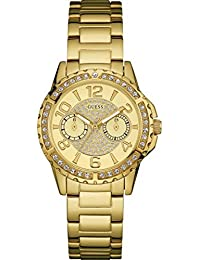 Guess Sassy Gold Tone Multifunction Womens Watch - W0705L2